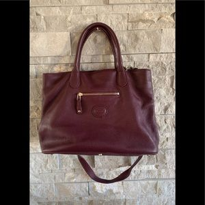 Roots Pebbled Leather Bag